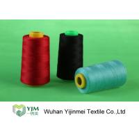 China Dyed 100 Spun Polyester Sewing Thread With Plastic / Paper Cone Wear Comfortable wholesale