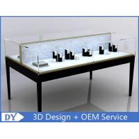 China Custom Black Metal MDF Double Side Jewellery Showcase Display wholesale