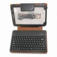 China Bluetooth Keyboard with Leather Bag, Supports Samsung Galaxy P1000 and All Google Android System wholesale