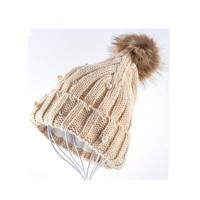 China Venonat Winter Knit Hats For Women , Customized Knitted Bobble Hat Original wholesale