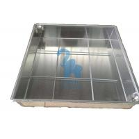 China Ground Square Drain Grate Covers Steel Grates For Drainage 600 * 600 * 80mm wholesale