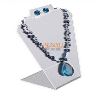 Quality Black Jewellery Necklace Display Stands Two Holes For 2 Necklace And 1 Set Earrings for sale