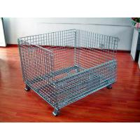 China Powder Coated Wire Mesh Pallet Cage For Logistics / Distribution Center wholesale