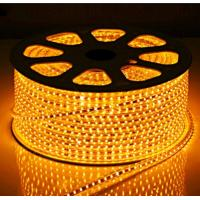 Quality LED Strips SMD5050 60pcs yellow color warterproof white double PCB 3M adhersive for sale