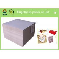China Stanard Size Grey Cardstock Paper , Grey Cardboard Sheets For Wine Packages wholesale