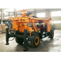 China Heavy Duty Water Well Drilling Rig Trailer Mounted For Mud And Air Drilling wholesale
