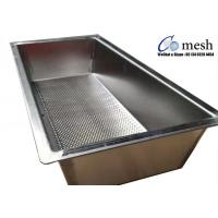 China Heavy Duty Stainless Steel Perforated Metal Tray 2mm Thickness For Making Cheese wholesale