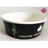 Quality Custom Logo Flexo Print Paper Salad Bowls Disposable 44oz With Lid for sale