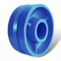 China Heavy-duty Groove Caster Wheel, Made of Premuim Ductile Iron, Provides Superior Strength on sale