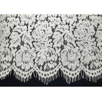 "Buy cheap Ivory Corded Eyelash Lace Trim With Width 65CM /26 "" Vintage Scalloped Floral from wholesalers"