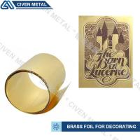Buy cheap High Precision C26000 C26800 C27000 Brass Metal Sheets , Width 1.0~650mm from wholesalers
