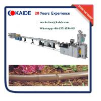 Buy cheap 2 Layers Brown Color Round Drip Irrigation Pipe Machine product