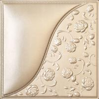 China Building Material Carved Decorative 3D Leather Padded Wall Panels , D-024 wholesale