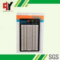 China Student DIY Transparent Soldered Breadboard 1660 Points 2 Terminal Strip on sale