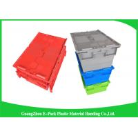 China Eco-friendly Stackable Heavy Duty Plastic Storage Containers With Attached Lids wholesale