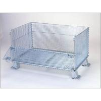 """China Super Wide Collapsible Wire Container Storage Cages 60""""X44""""X40"""" 3000 Pounds Capacity wholesale"""