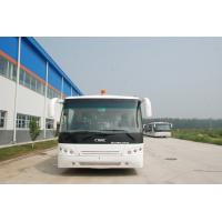 Quality Low Carbon Alloy Steel Body Airport Transfer Coach , Right / Left Hand Drive Bus for sale
