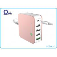 China 40W 5 Ports Type C USB Desktop Charging Station Quick Charger 3.0 with ETLCertified wholesale