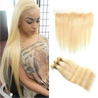 China 613# Blonde Color Double Weft Malaysian Human Hair Wave For White Women wholesale