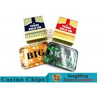 China Texas Holdem Set of 3 SmallBlind, BigBlindand DealerPokerButtons For Casino Poker Table Games wholesale
