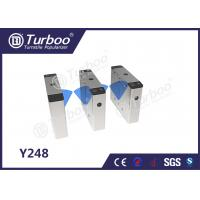 China Pedestrian Flap Barrier Turnstile For Indoor And Outdoor Security Management wholesale