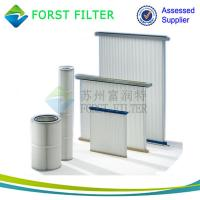 China FORST Cylinder Air Cartridge Polyester Air Filter Material Pleated Air Filter Supplier on sale