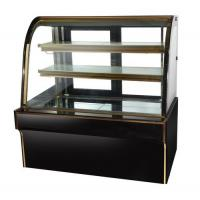 China 1.5m Black Color Cake Showcase Marble Cake Chiller Bakery Display for Bakery wholesale