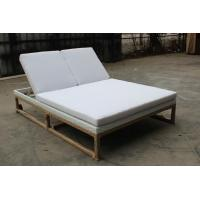 China Yoshen outdoor SS metal sun lounger rattan/wicker chaise lounger daybed-6068-1 wholesale