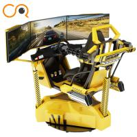 China Realistic Crazy Car VR Racing Simulator With Electric Cylinder System wholesale
