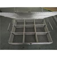 China Stainless steel wire mesh drying tray basket on sale