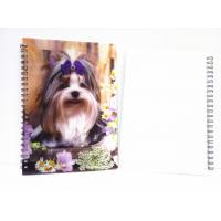 China Flip A4 , A5 , A6 Size 3D Lenticular Notebook Cover For Wrinting wholesale