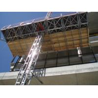 China 1 x 4 Kw Motor 2.4m Width Mast Climbing Work Platforms Facades for Office Building wholesale
