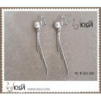 China Factory price 925 fashion sterling silver gemstone earrings with immitation pearl W-AS1169 wholesale