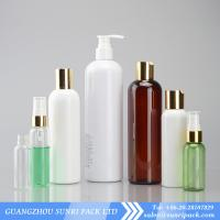 China plastic shampoo bottle with lotion pum, cosmo round PET bottle, plastic squeeze bottles wholesale