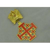 3D Gold Custom Medal Awards , Zinc Alloy Synthetic Enamel Medal
