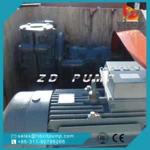 China AHR horizontal rubber liner slurry pump coal washing pump ash pump mud pump on sale