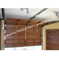 Quality Wooden Look Overhead Steel Garage Door Smart Sectional Lifting Door Solutions for sale