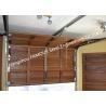 China Wooden Look Overhead Steel Garage Door Smart Sectional Lifting Door Solutions wholesale