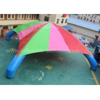 China 15m Colorful 4 Legs Inflatable Dome Tent For Exhibition / 0.45mm PVC Inflatable Car Park Tent wholesale