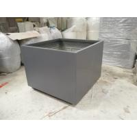 China Factory direct sales light weight durable garden extra large square fiberlgass Planter wholesale