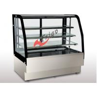 China Floor Standing Bakery Food Display Showcase Curved Cake Showcase Air Cooling on sale