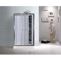 China White ABS Tray Chrome Profiles Rectangular Shower Cabins 1200 X 800 X 2250 mm wholesale