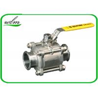 China Sanitary Manual Ball Valve , Three Piece Encapsulated Hygienic Ball Valves wholesale