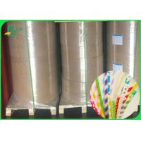 China 13.5 mm 14 mm 15 mm Width White Kraft Paper Making Straws FDA FSC Approved wholesale