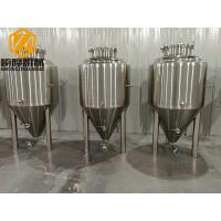China 300L Top Flange Brewery Fermentation Tanks Resist Compression Cone For Small Pub wholesale