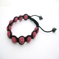 China A unique design red 12mm crystal beaded bracelet CJ-B-179 for anniversary, gift wholesale
