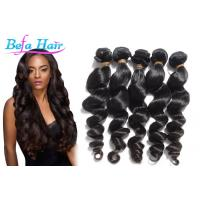 China customized 16 Inch Loose Wave Peruvian Human Hair Extensions wholesale