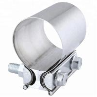 China Aluminized Preformed Exhaust Band Pipe Clamp Heavy Duty Lap Joint Clamp wholesale