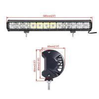 China 7D Cross 144 W DRL Car Roof LED Light Bar , 110v Led Flood Light Bar 2 Years Warranty wholesale