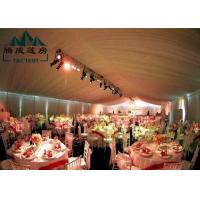 China Marquee Gazebo Wedding Event Tents With Sandwich Panel And Wall Curtain wholesale